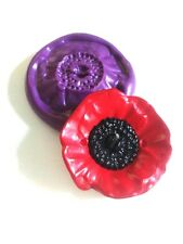 Med POPPY 25 mm Flower  Silicone Mould Flower Sugarcraft Fondant Icing Fimo