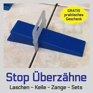 Nivelliersystem Fliesen Verlegehilfe Levello Laschen fuge 1-3mm Keile Zange