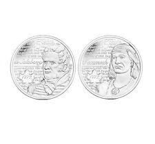 Lot of 2 Canada 25 cent 2012 Tecumseh + 2013 De Salaberry War of 1812 (Plain)