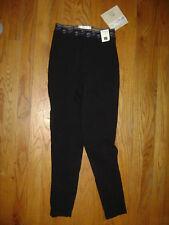 Jpc Tuff Rider Girls Equestrian Pull On Pants Breech Stitching Black size16 Nwt