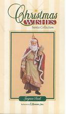 "Nib Roman Inc Joyeux Noel 4.5"" Ornament Figurine 26130 Christmas Wishes Santa"