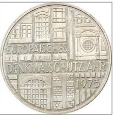 5 Deutsche Mark argent 1975 F  Qualité + belle patine