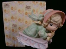 New ListingPrecious Moments-Girl Sliding On Sled-1999 Limited Edition-Rare