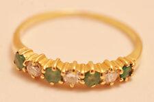FEINER Damen-RING *Smaragde*Brillanten* 585er GELBGOLD, Gr. 51-Verlobung- TOP!!