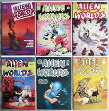 ALIEN WORLDS #1, 2, 3, 5, 7, 9, 3-D ~ PC Comics ~ B. Jones R. Corben S. Hampton