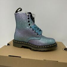 Dr. Martens 1460 Pascal Glitter Boots Pink Size 5 Womens Purple Black Boots