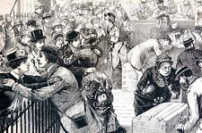 Custom Barge Office NYC 1884 STEAMER TOURISTS WELCOMED HOME from EUROPEAN TRIP