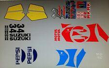 SUZUKI RGV250 VJ21 MODEL PEPSI FULL PAINTWORK DECAL KIT
