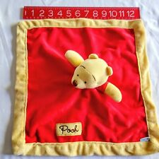 Winnie The Pooh Lovey Disney Baby Security Blanket Embroidered Kidsline Red