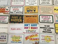 ~LOT of 25~COMIC~POSTCARDS~HUMOR JOKES & GREETINGS~FUNNY WORDS~ UNUSED-a430