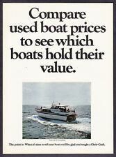 """1968 Chris-Craft 52' Constellation Boat photo """"Compare Used Values"""" print ad"""