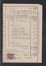 Italy Stamps - Revenues - 1L Marca da Bollo on 1940s Tax Receipt