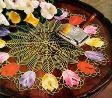 Tulip Doily Crochet Pattern Copy GORGEOUS 43 cms diameter
