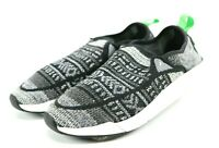 Sanuk Men's Knitted Casual Loafers Shoes Size 8 Black Gray
