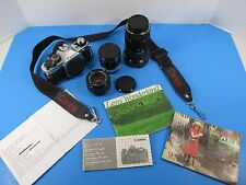 Canon AE-1 Program 35mm SLR Film Camera Outfit 50mm f=1.8 Zoom 35-105 VS12/2