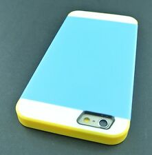 """BLUE YELLOW MULTI TONE HYBRID PHONE CASE COVER FOR APPLE IPHONE 6 6S 4.7"""""""