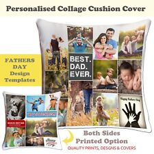 Fathers Day Personalised Photo Cushion Cover  Collage picture template-Dad-01 ❤❤