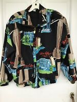 Fuda International Vintage NY Jacket, Twin Towers, Empire State Building, Size S
