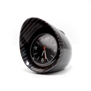 Car Auto Dashboard Clock Carbon Fiber Automotive Black Backlight Light Universal