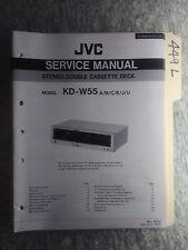 JVC kd-w55 service manual original repair book stereo tape deck player