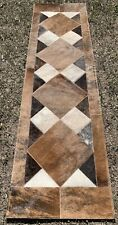 COWHIDE TABLE RUNNER PATCHWORK CARPET AREA RUG LEATHER - Rodeo