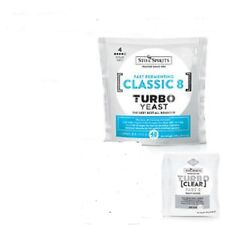 STILL SPIRITS TURBO YEAST CLASSIC 8 and TURBO CLEAR  X 3 OF EACH