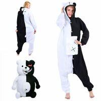 Danganronpa Monokuma Cosplay Costume Unisex Sleepwear Jumpsuit Pajamas Halloween