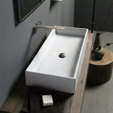 Teorema Ceramic Rectangular Vessel Bathroom Sink