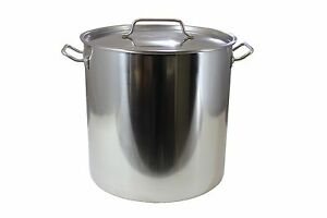 CONCORD Polished Stainless Steel Stock Pot Brewing Beer Kettle Mash Tun w/ Lid