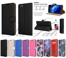 For Alcatel 1V (2019) 5001D Leather Wallet Phone Case Cover + 9H Tempered Glass