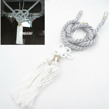 Vip Style Charm Junction Produce Fusa White Kiku JP Knot & Silver Kin Tsuna Rope