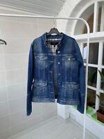 Women's Burberry London Blue Nova Check Denim Jean Jacket UK-8 US-6