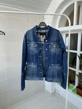 Women's Burberry London Blue Nova Check Denim Jean Jacket UK-8 US-6