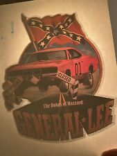 Dukes Of Hazzard General Lee Vintage Rare Iron-On Transfer Roach
