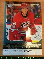 UPPER DECK 2017-2018 SERIES TWO VALENTIN ZYKOV YOUNG GUNS HOCKEY CARD #467