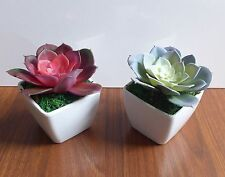 2 Colors Lotus Potted Artificial Mini Plants Home Wedding Deoration