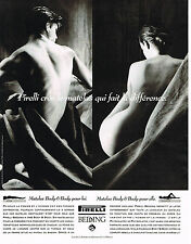 PUBLICITE ADVERTISING 094  1992  PIRELLI BEDDING matelas BODY& BODY