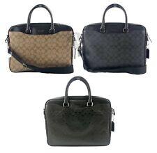 Совершенно новый тренер мужской (F72972 F73420) Беккет компактный кожаный портфель ручная сумка
