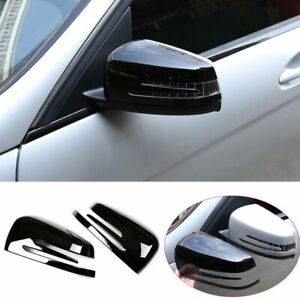 Gloss Black Side Rearview Mirror Cover For Benz A B C E S CLS CLA GLA GLK Class