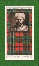 CLAN MACLEAN CLAN TARTAN original 1927 card  DEATH or LIFE   DUART CASTLE