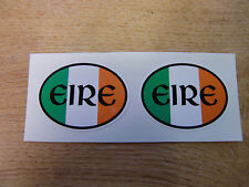 "2x bandera irlandesa Oval ""Eire"" Stickers Calcomanías - 50x38mm"