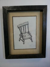 Original Art - Chair - Pencil on Paper - Framed 5x7- Direct from the Artist