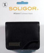 Soligor Milano I Fototasche schwarz black leather Tasche case poche- (12414)