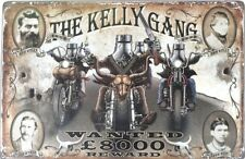 NED KELLY GANG WANTED 600X400 ALL WEATHER Metal tin Sign