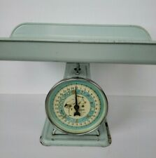 "Vintage Hanson ""Stork"" Table Top Nursery Scale Model #3025 30 lbs by Ounces Blue"