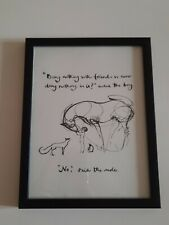CHARLIE MACKESY FRAMED BOOK EXTRACT.  FROM 'THE BOY ,THE MOLE, THE FOX AND THE..