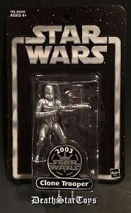 Star Wars 2003 Attack Of The Clones AOTC Silver Clone Trooper TRU Exclusive ROTS