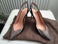 Roland Mouret Authentic Designer Stiletto Heels Black Snakeskin Brand New