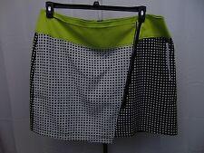 Modamix Plus Size Color Blocked Jacquard Print Skirt Black & White 20W #1274