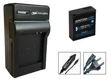 Platinum Akku + Ladegerät für Panasonic Lumix DC-TZ96EG, DMC-LX100 - DMW-BLG10-E